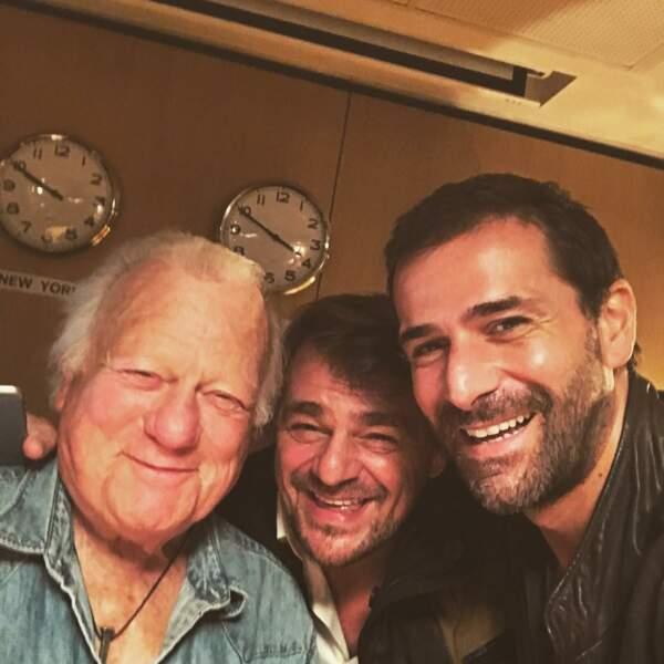 Grégory Fitoussi n'oublie pas de sourire avec Thierry Godart et Philippe Nahon