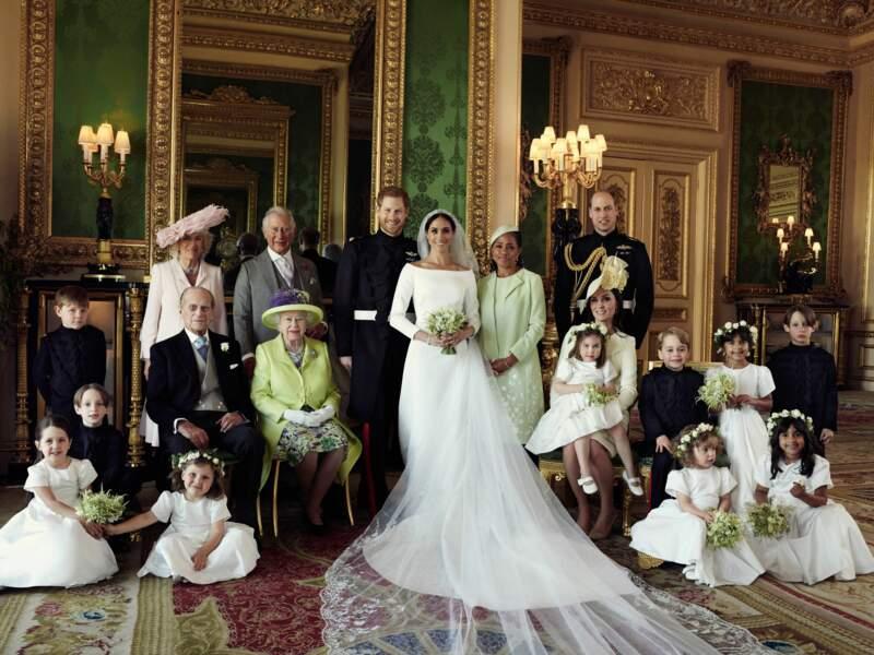 Le portrait idyllique d'une photo de famille...royale