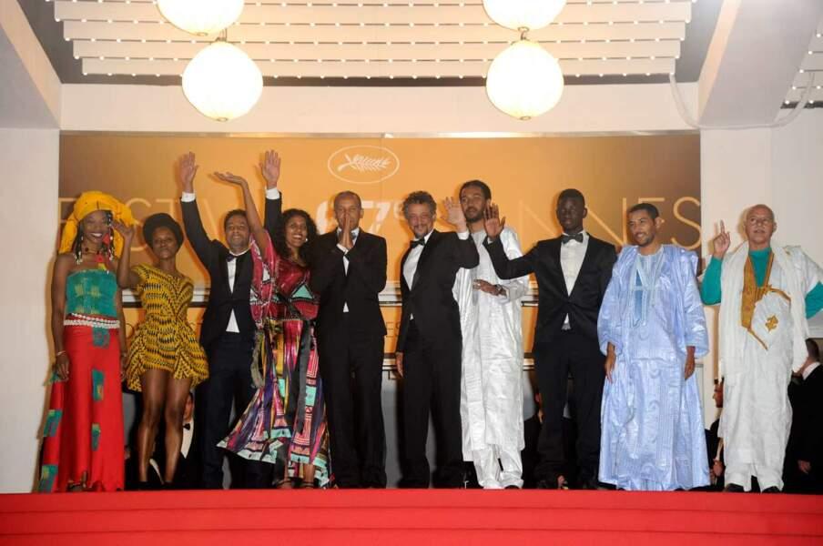 L'équipe du film franco-mauritanien Timbuktu, film qui a mis une claque aux festivaliers