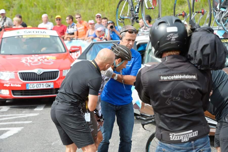 Courageux, il s'est relevé, avec l'aide de Vincent Lavenu, son directeur sportif