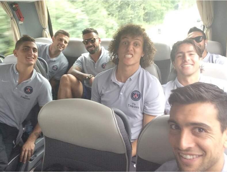 Ouh la jolie grimace de David Luiz, le footballeur brésilien...
