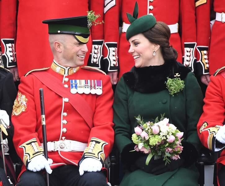 La cérémonie se tenait à Hounslow, à l'ouest de Londres, pour saluer les troupes de la cavalerie