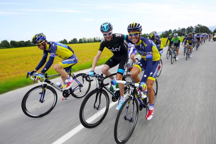 A droite, Alberto Contador, à gauche, Christopher Froome : les grands favoris, ce sont eux !