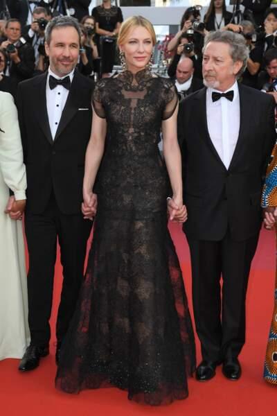 Cate Blanchett entourée de Denis Villeneuve et Robert Guediguian