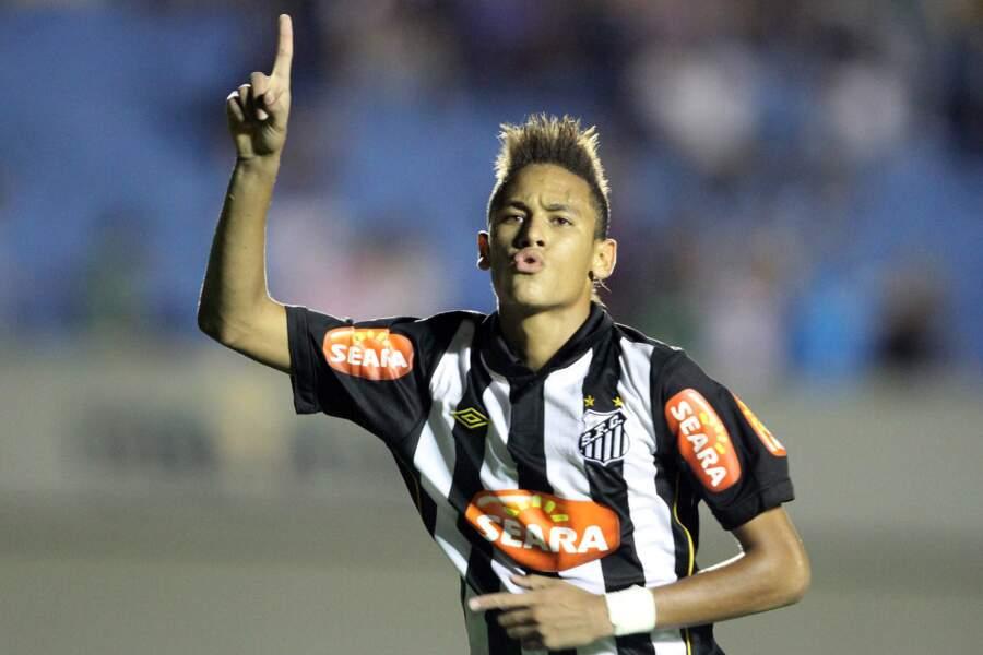 Neymar, en 2010, sous le maillot du Santos FC