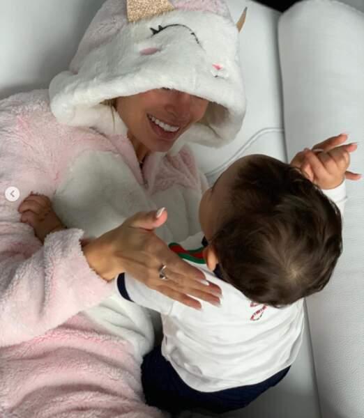 Mélanie Da Cruz a fêté son anniversaire avec son bébé, Swan.