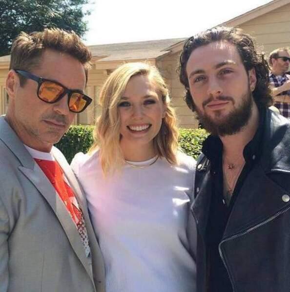 Robert Downey Jr, Elizabeth Olsen et Aaron Taylor-Johnson en mode beaux (et belle !) gosses