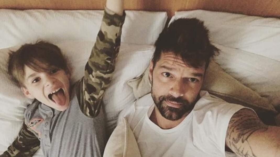 Même chose pour Ricky Martin et son fils