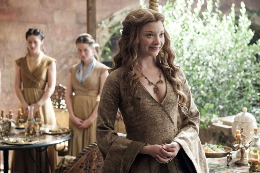 Natalie Dormer prête ses traits à Margaery Tyrell, qui épouse Tommen Lannister