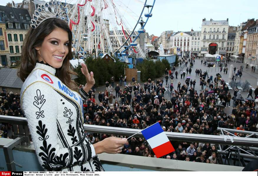Accueil triomphal à Lille pour l'enfant du pays : Miss Nord-Pas-de-Calais est devenue Miss France
