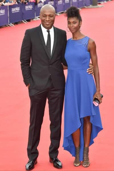 Harry Roselmack et son épouse Chrislaine, glamour sur tapis rouge