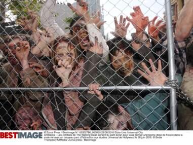 Greg Nicotero et Scott Wilson (Hershel) inaugurent l'attraction The Walking Dead aux studios Universal de Hollywood