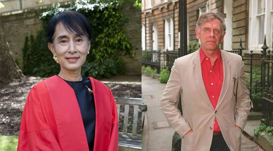 Aung San Suu Kyi et Michael Aris, décédé le 27 mars 1999.