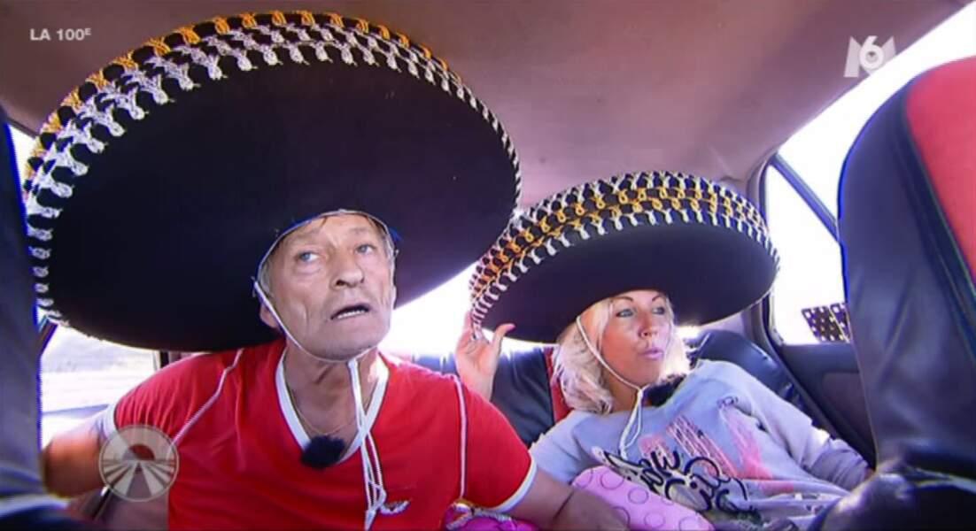 Bah ouais forcément 5 sombreros sur la tête, c'est galère dans une voiture