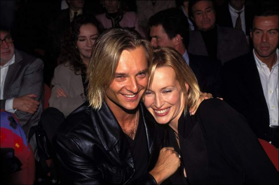 Avec Estelle Lefébure, il forme un des couples star des années 90