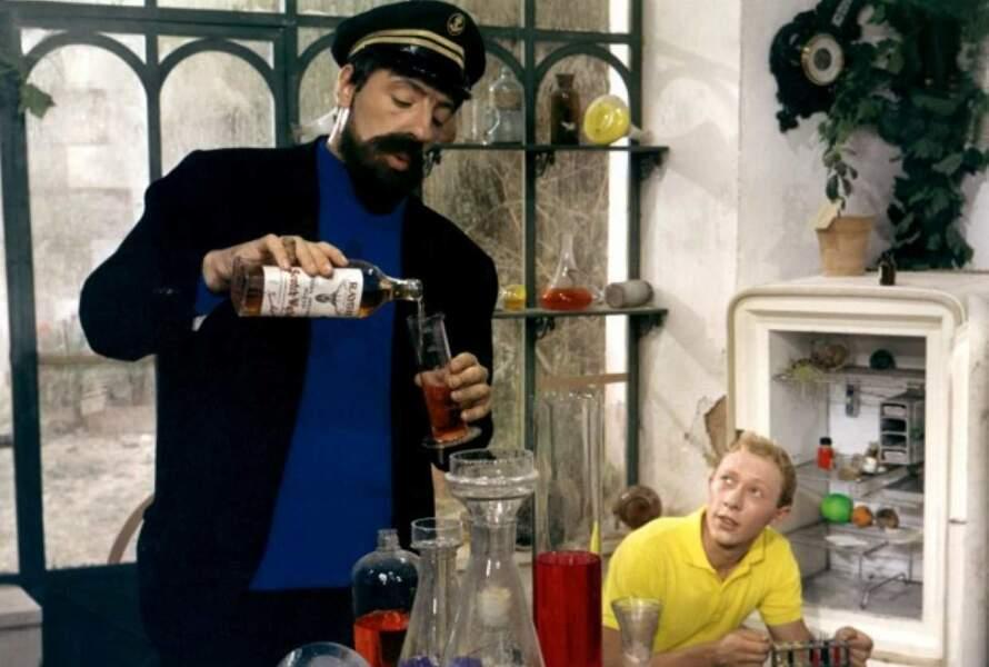 1964 : ici avec Jean Bouise, un nouveau capitaine Haddock, plus jeune...