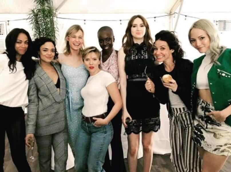 Quand toutes les actrices de Marvel se réunissent, ça donne ça et on adore, EVIDEMMENT.