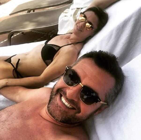 Arnaud Ducret et sa compagne Claire sont très heureux d'être à Marrakech.