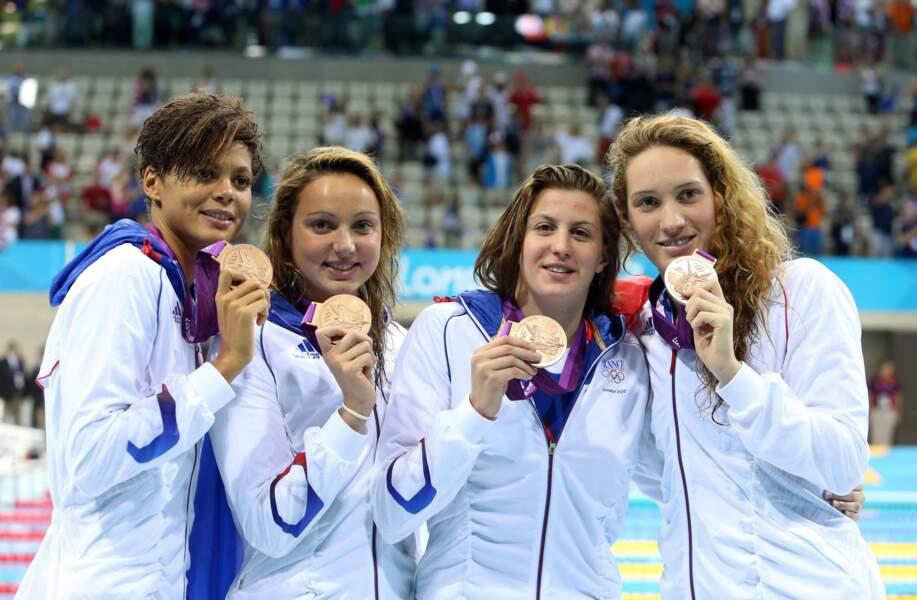 Un bronze aux reflets d'or pour les copines du 4x200 m (Balmy, Etienne, Bonnet, Muffat)