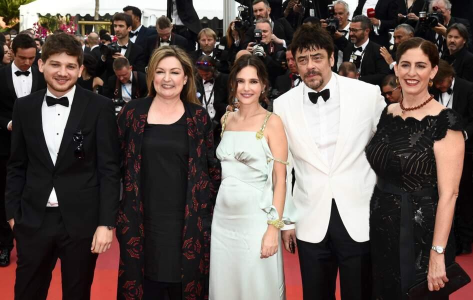 Benicio del Toro et son jury Un Certain regard : Kantemir Balagov, Julie Huntsinger, Virginie Ledoyen et A. Jacir