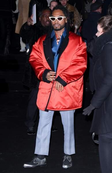Le chanteur Miguel au défilé Dior Homme
