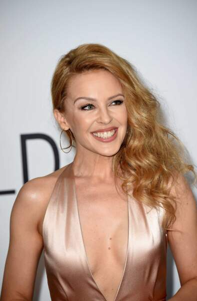 Kylie Minogue à la soirée de l'AmfAR à Antibes, le 22 mai 2014