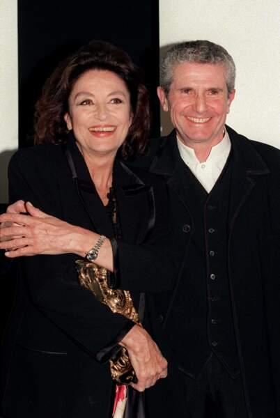 L'actrice Anouk Aimée a tourné dans neuf films du réalisateur Claude Lelouch.