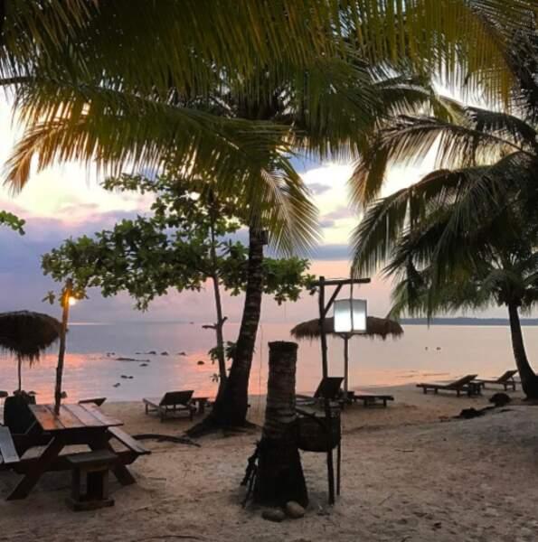 Coucher de soleil incroyable sur l'île de Koh Rong