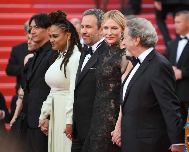 Cate Blanchett et quelques membres de son jury : Ava DuVernay, Denis Villeneuve et Robert Guediguian