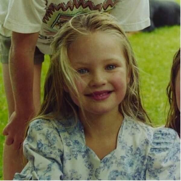 Enfant, la top model sud-africaine Candice Swanepoel était déjà au top…