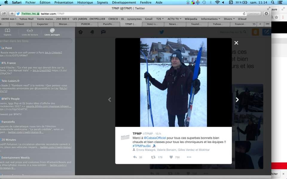 Gilles Verdez, lui, a déjà sorti les skis