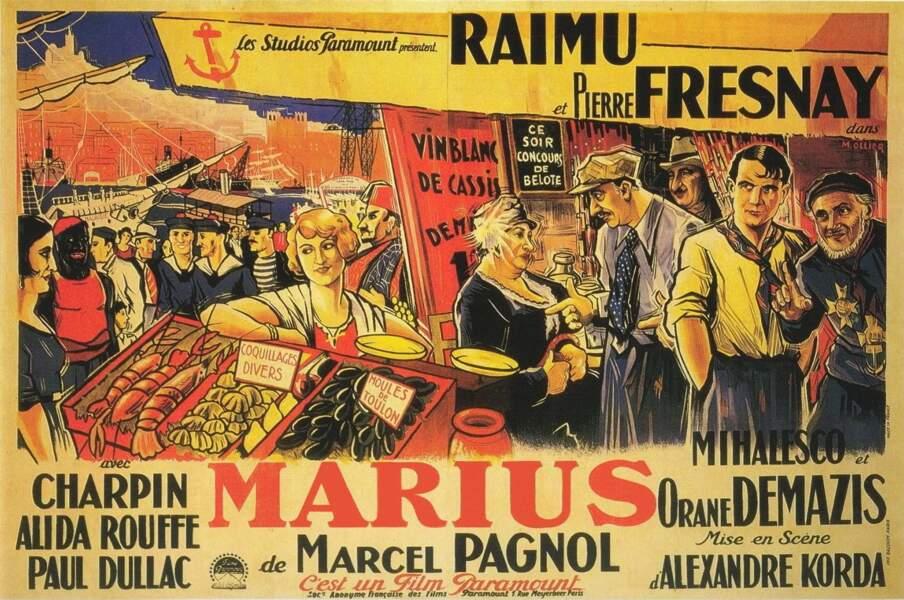 """En se basant sur """"Marius"""" (1931), avec Raimu, ..."""
