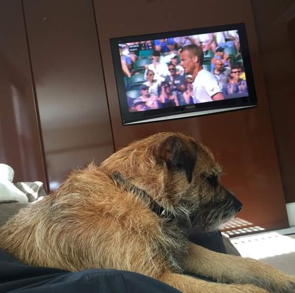 Andy Murray, lui, peut compter sur le soutien de Rusty