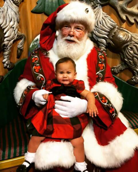 Comme beaucoup d'enfants, la petite Luna Legend a été traumatisé par sa rencontre avec le Père Noël.