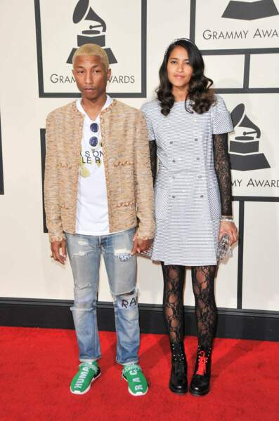 Pharrell Williams et sa compagne Helen Lasichanh