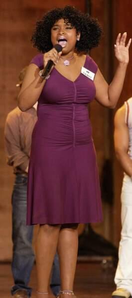 La chanteuse Jennifer Hudson affichait des rondeurs en 2003, lors du concours American Idol