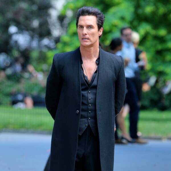 Matthew McConaughey et son look total black pour The Dark Tower tourné à New York