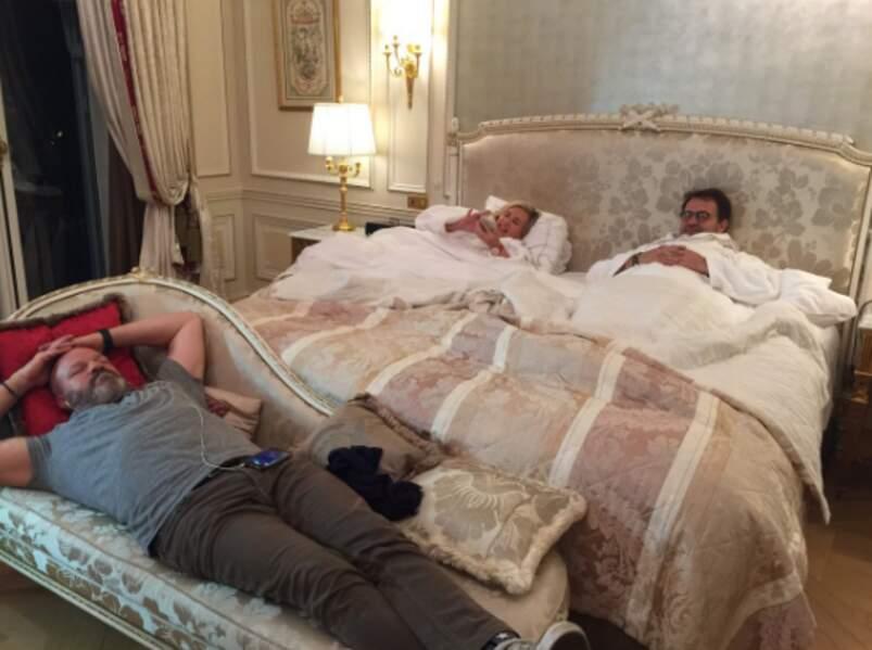 Petit incident technique sur le tournage : petit ménage à 3 pour les chefs !