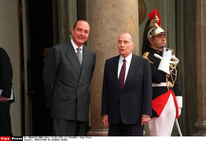 Chirac est le nouveau président. Mitterrand fait ses cartons...