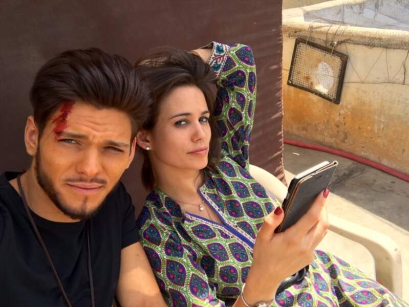 Si dans cette fiction, il retrouve Lucie Lucas, sa partenaire de Clem, le tournage est autrement plus risqué