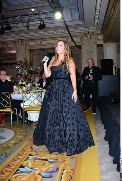 Hélène Ségara lors d'un gala en 2017...