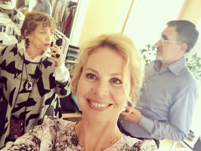 Carole Richert (Marie-France), Jean Dell (Michel) et la réalisatrice Joyce Bunuel
