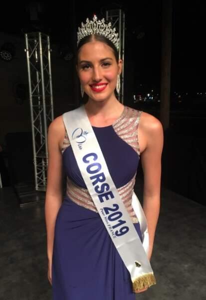 Alixia Caura, Miss Corse a été élue le 6 septembre à Porticcio