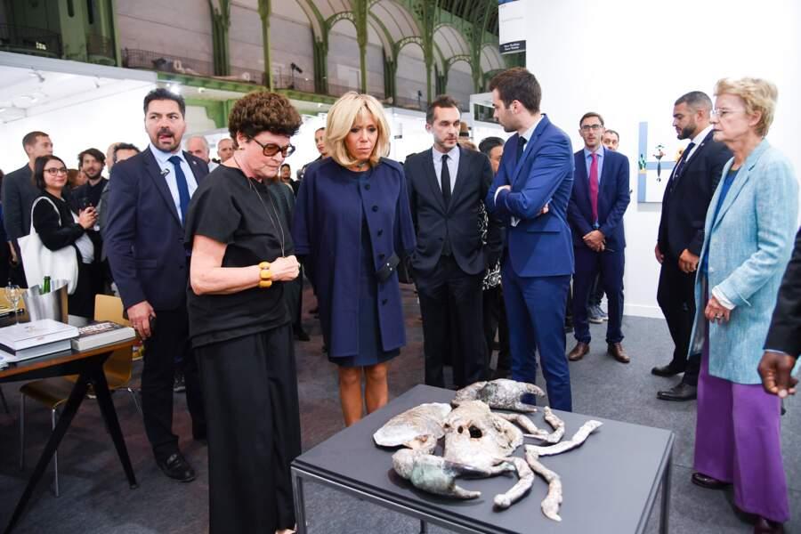 Grande amatrice d'art, Brigitte Macron a assisté au lancement de la FIAC, la foire d'art contemporain