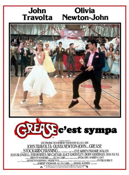 Grease, film culte avec John Travolta et Olivia Newton-John devient chez nos amis québécois...