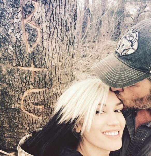 Trop d'amour entre Gwen Stefani et son acolyte de The Voice, Blake Shelton.