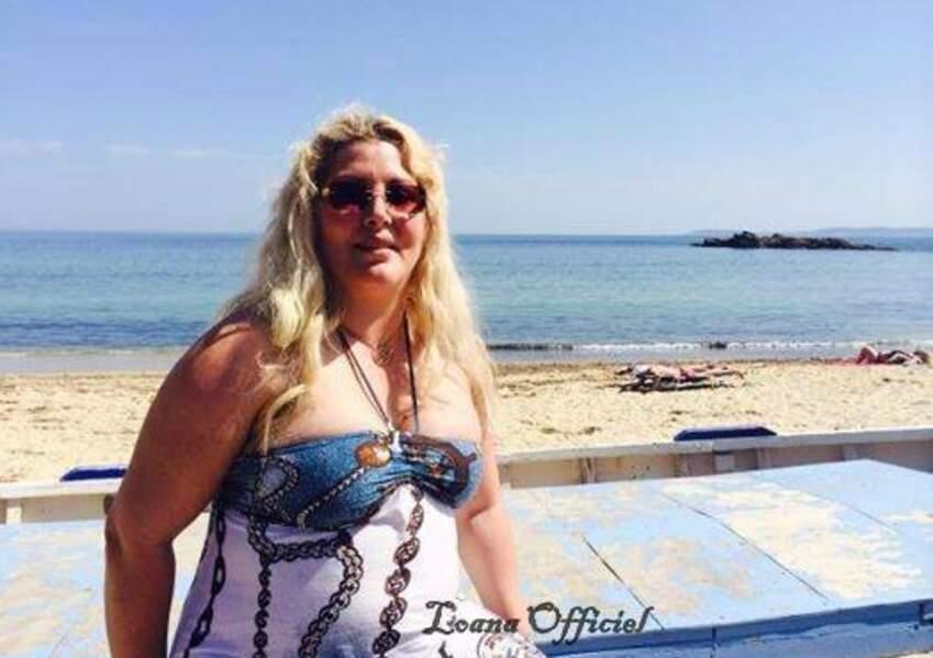 Loana en vacances à Cagnes-sur-Mer en juin 2014