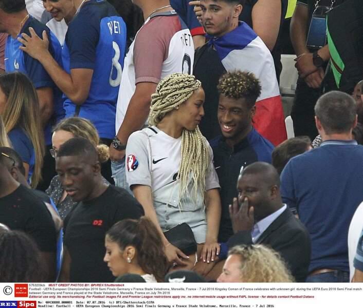 Kingsley Coman avec sa petite amie