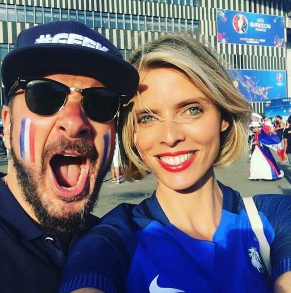 Sylvie Tellier et Michaël Youn étaient au Stade Vélodrome pour ce France-Allemagne