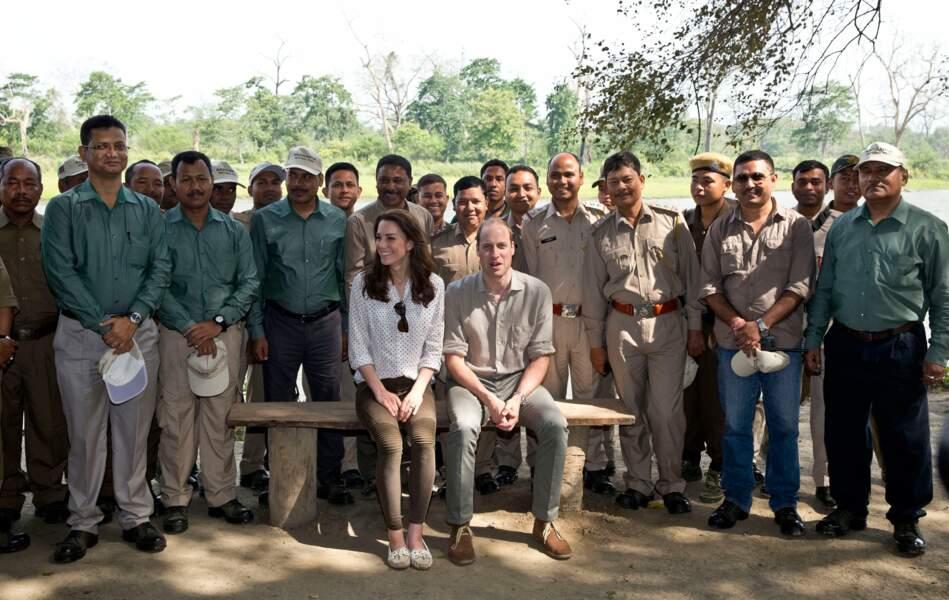 Réveil dans le parc national de Kaziranga pour les amoureux